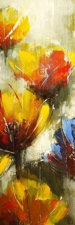 Texturized yellow flowers