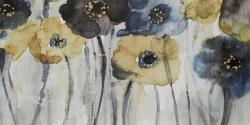 Gray blue and yellow flowers