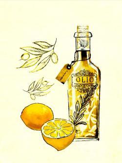 Olive oil and lemons