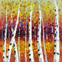 Colored birches