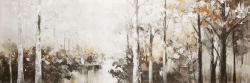 Abstract white forest