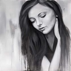 Realistic woman portrait