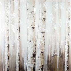 Abstract white birches