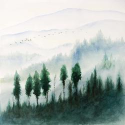 Landscape in watercolor