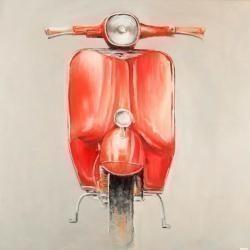 Petit cyclomoteur rouge