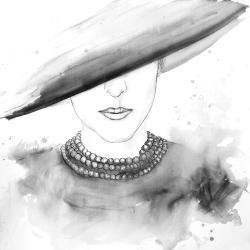 Mysterious lady with a hat