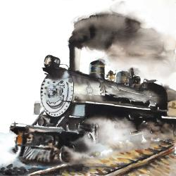 Train vapeur vintage