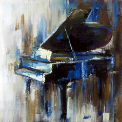 Abstract grand piano