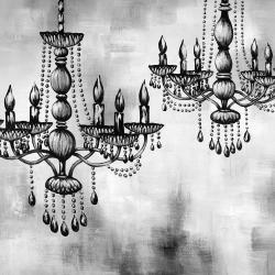 Two crystal chandeliers