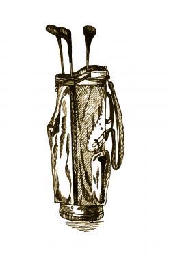 illustration of a golf bag