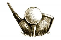 Illustration d'une balle de golf