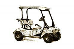 Illustration of a golf cart