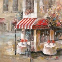 Sunny restaurant terrace