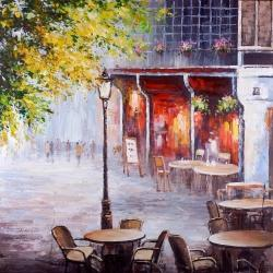 Outdoor restaurant by a nice day