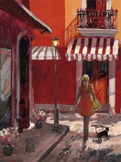 Lady walking down the street