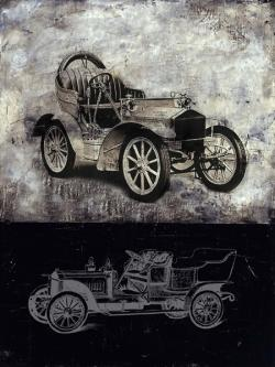 Sketch of a vintage car