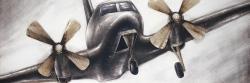 Avion vintage en vol