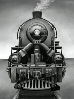 Train noir et blanc