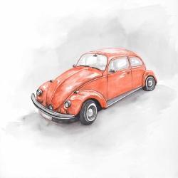 Vintage red beetle