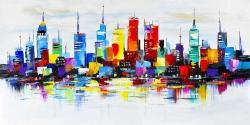 Abstract and very colorful city
