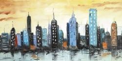 Skyline on cityscape