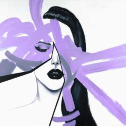 Abstract purple woman portrait