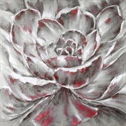 Fleur rouge et grise