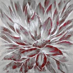 Red and gray flower
