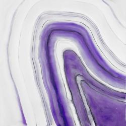 Purple round geode