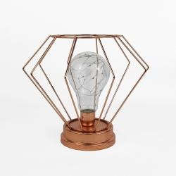 Rose gold metal lamp