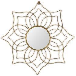 Gold metal flower mirror