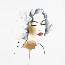 Classic woman watercolor