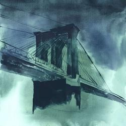 Abstract view of brooklyn bridge