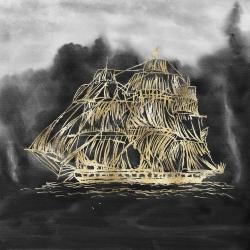 Illustration of a  old sailing ship