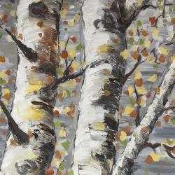 Budding white birches 1
