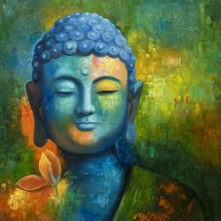Bouddha coloré