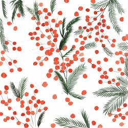 Mistletoe leaf pattern