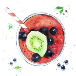 Smoothies aux petits fruits