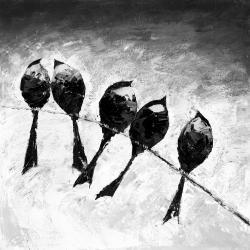 Five birds perched