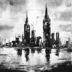Mono urban cityscape