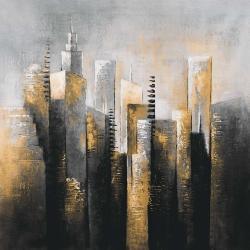 Abstract gold skyscraper