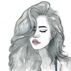 Beautiful female hair