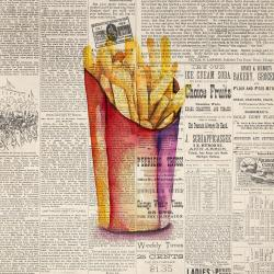 Vintage style french fries