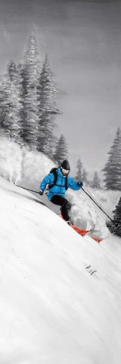 Man skiing in mountain