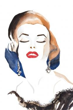 Vintage chic maryline monroe