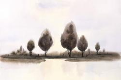 Abstract landscape of trees