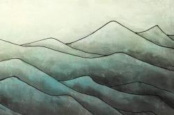 Montagnes en tons de gris