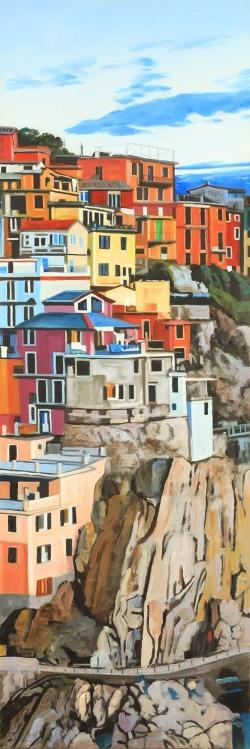 View of manarola in italy