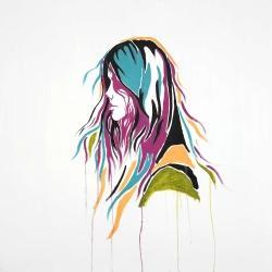 Femme art de rue graffiti