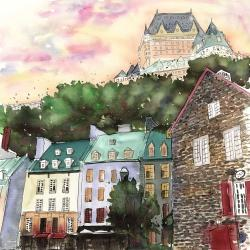 Château frontenac in the petit champlain